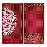 Greeting card in European style, floral ornament, template Royalty Free Stock Image
