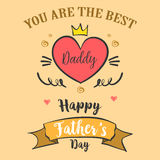 Greeting card of father day style. Vector illustration royalty free illustration