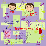 Greeting card on Father's Day. Vector greeting card on Father's Day Royalty Free Stock Images