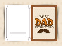 Greeting card for Fathers Day celebration. Stock Images
