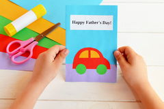 Greeting card father's day Royalty Free Stock Image