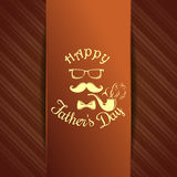 Greeting card for Fathers Day celebration Stock Images