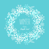 Greeting card with a festive wreath. Design Elements. Vector illustration Stock Photo