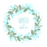 Greeting card with a festive wreath. Design Elements. Royalty Free Stock Photos