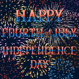 Greeting card with fireworks royalty free stock images