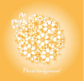Greeting card. With a floral background Royalty Free Stock Photography