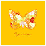 Greeting card with floral butterfly. Stock Images