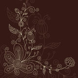 Greeting card, floral illustration Royalty Free Stock Image
