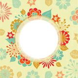 Greeting card with floral motifs Royalty Free Stock Image