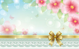 Greeting card with floral ornament Royalty Free Stock Image