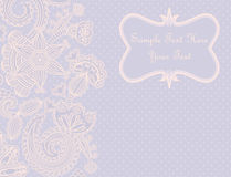Greeting card with a floral pattern Stock Image