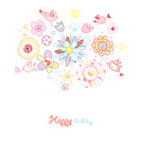 Greeting Card Flower Royalty Free Stock Photography