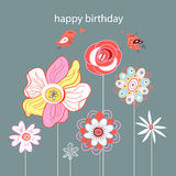 Greeting card Flower Royalty Free Stock Photo