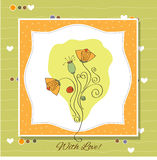 greeting card with flower Royalty Free Stock Photography