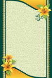 Greeting Card with Flower and Ornamental Background Royalty Free Stock Image