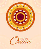 Greeting card of flower rangoli decoration Stock Images