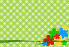 Greeting card with flowers Stock Image