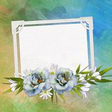 Greeting card with flowers Royalty Free Stock Photography