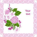 Greeting card with flowers Royalty Free Stock Image