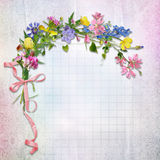 Greeting card with flowers Royalty Free Stock Photos