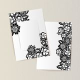 Greeting card with flowers stock illustration