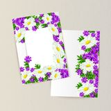 Greeting card with flowers. For congratulations, labels, price tags Royalty Free Stock Photo