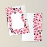 Greeting card with flowers. For congratulations, labels, price tags Royalty Free Stock Photos