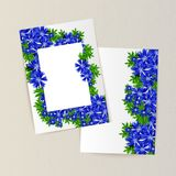 Greeting card with flowers. For congratulations, labels, price tags Stock Photo