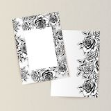 Greeting card with flowers. For congratulations, labels, price tags Royalty Free Stock Photography