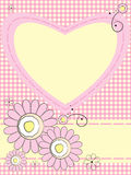 Greeting card with flowers and heart Royalty Free Stock Photos