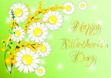 Greeting card with flowers on Mother's day Royalty Free Stock Photo