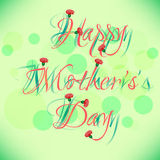 Greeting card with flowers on Mother's day Stock Image