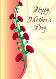 Greeting card with flowers on Mother's day Stock Photo