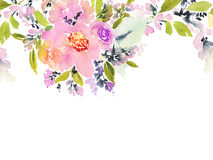 Greeting card with flowers. Stock Photo