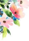 Greeting card with flowers. Royalty Free Stock Image
