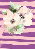 Greeting card with flowers. Royalty Free Stock Images