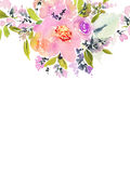 Greeting card with flowers. Royalty Free Stock Photography