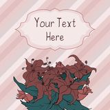 Greeting card. With flowers and place for text Stock Illustration