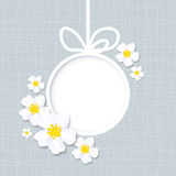 Greeting card with flowers, vector. Spring greeting card with flowers, vector Stock Image