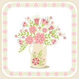 Greeting card with flowers. Stock Images