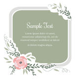 Greeting card with flowers in vintage style. Stock Images