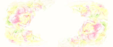 Greeting card with flowers. Stock Photography