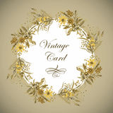 Greeting card with flowers, watercolor, can be used as invitation card  and other holiday and  summer background. Royalty Free Stock Photos