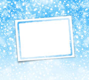 Greeting card with frame on a beautiful background with bokeh Stock Photo