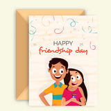 Greeting Card for Friendship Day celebration. Stock Photo