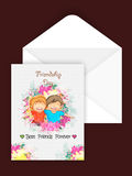 Greeting Card for Friendship Day celebration. Royalty Free Stock Image