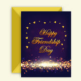 Greeting Card for Friendship Day celebration. Royalty Free Stock Images