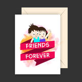 Greeting Card for Friendship Day. Royalty Free Stock Photo