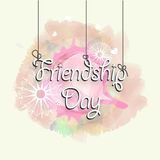 Greeting Card for Friendship Day. Stock Images