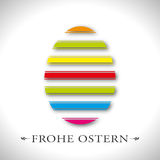 Greeting card - frohe ostern 2 Royalty Free Stock Photography